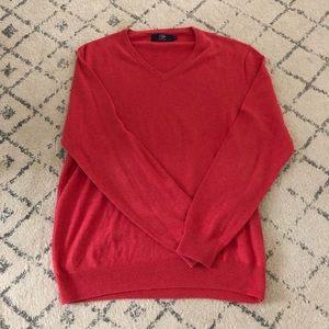 100% cotton J.Crew v neck sweater size M